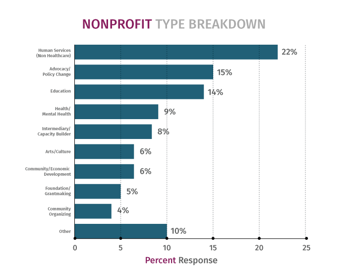 Race Survey Nonprofit Type Breakdown Diagram